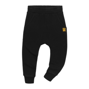 Black Wash Trackpants