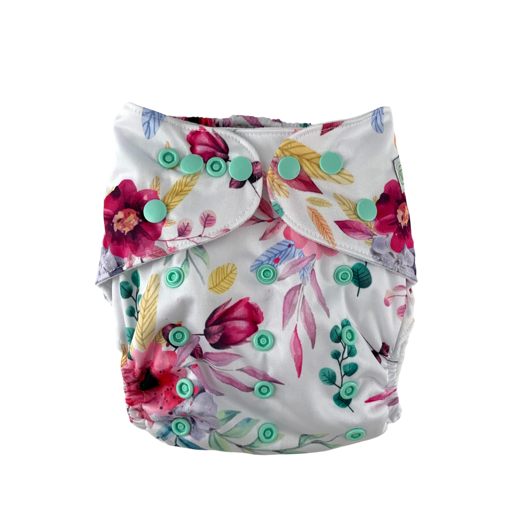 Floral Blush Cloth Nappy