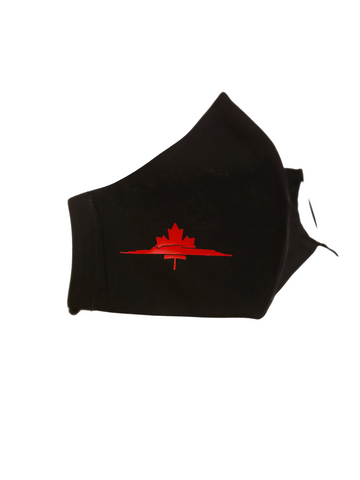 PURE COTTON FACE MASK - MAPLE LEAF/SLEEPING GIANT DESIGN