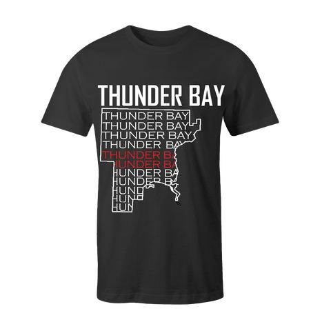 Shirt - Thunder Bay Map with thunder bay words