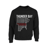 Sweater - Thunder Bay Map with thunder bay words