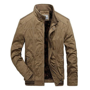Khaki Ornamental Grid Jacket