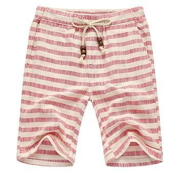 Red Striped Voyager Shorts