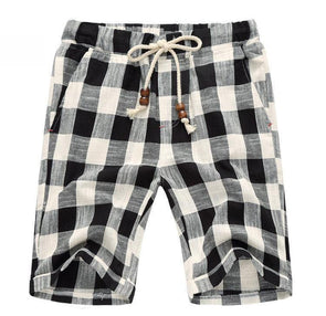 Dark Plaid Voyager Shorts