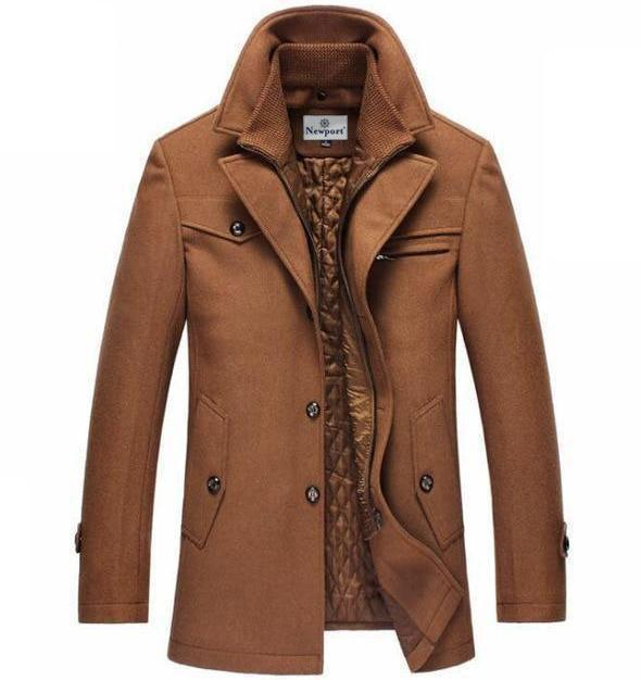 Brown Longshanks Captain's Trench Coat