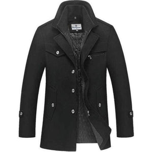 Black Longshanks Captain's Trench Coat