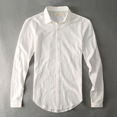 White Armada Linen Collared Shirt