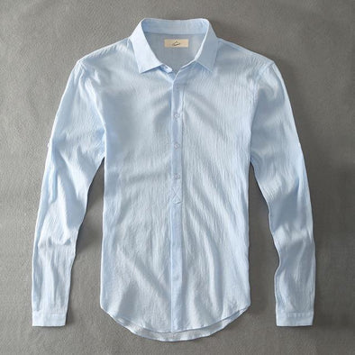 Blue Armada Linen Collared Shirt