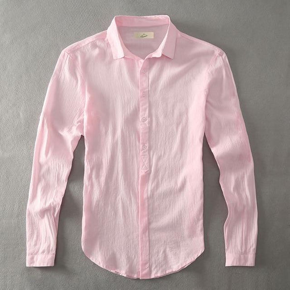 Pink Armada Linen Collared Shirt