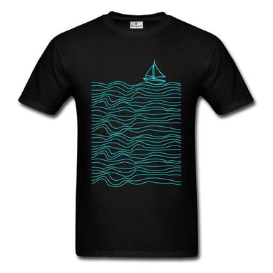 Neon Waves Graphic T-Shirt