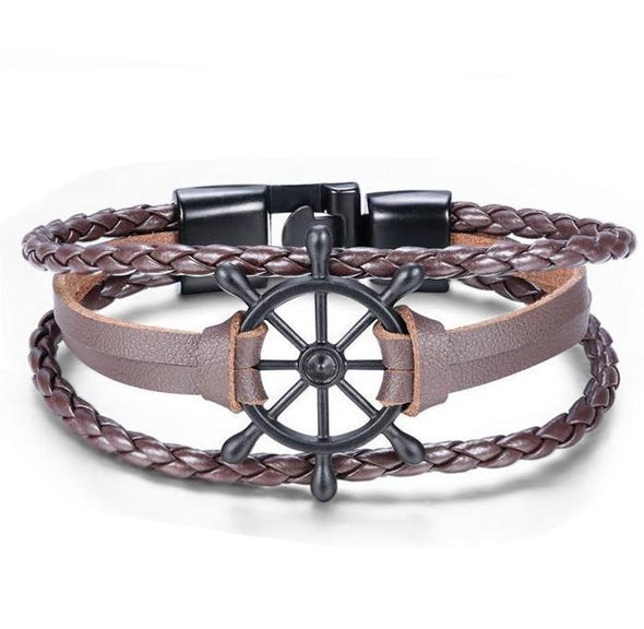 Brown Stringed Steering Bracelet