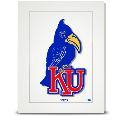 KU Jayhawk 1920 - folded card