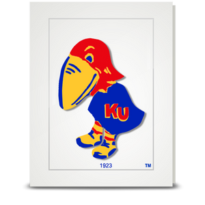 KU Jayhawk 1923 - folded card