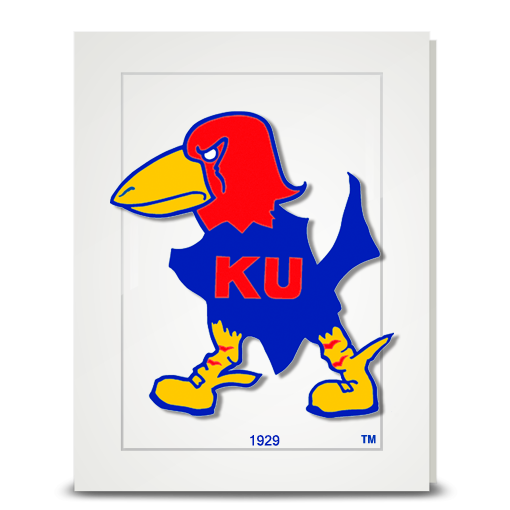 KU Jayhawk 1929 - folded card