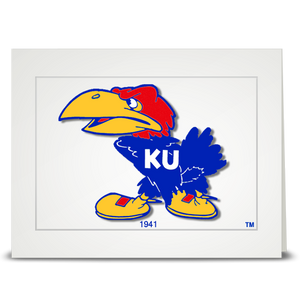 KU Jayhawk 1941 - folded card