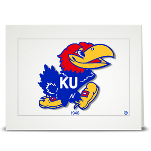 KU Jayhawk 1946 - folded card