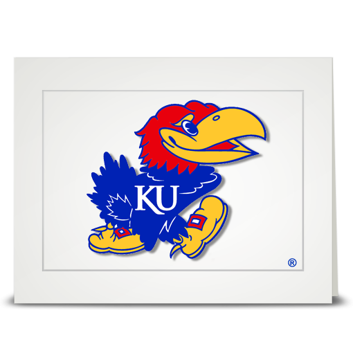 KU Current Jayhawk - folded card
