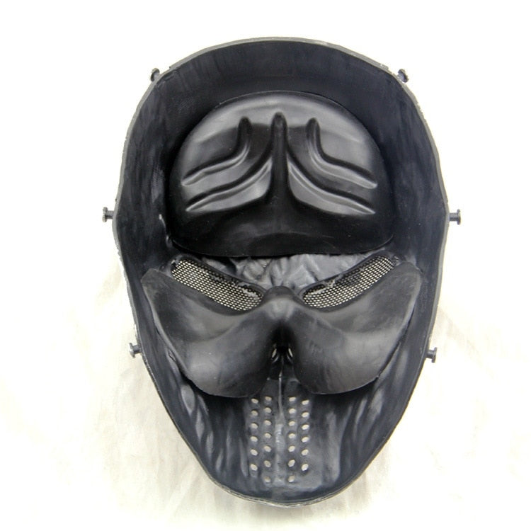 Black God Tactical Paintball Skull Mask