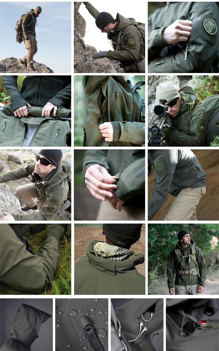 Outdoor Sport Softshell TAD Tactical Jacket.