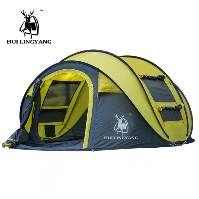 4 Person Waterproof Outdoor Automatic Throw Pop Up Tent.