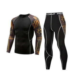 Men Outdoor Quick Dry Compression Sports Suit.