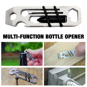 Multi Function Stainless Steel Tactical Keychain