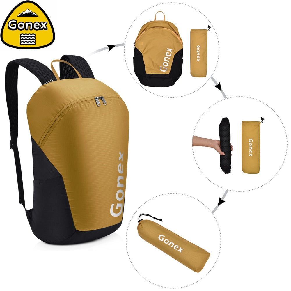 Gonex 32L Lightweight Backpack Foldable Packable