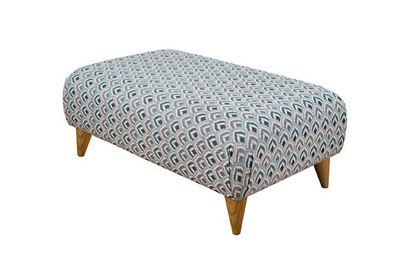 Style Large Footstool Pattern