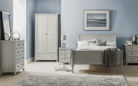 Maine 6 Drawer Wide Chest Of Drawers - Dove Grey