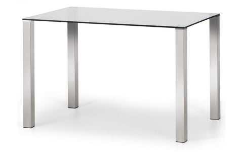 Enzo Chrome & Glass Compact Dining Table