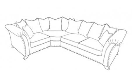 Vesper Left Hand Facing Pillow Back Corner Group