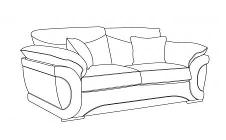 Omega Standard Back 3 Seater Sofa