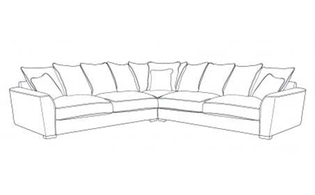 Fantasia 2 by 2 Seater Pillow Back Corner Group