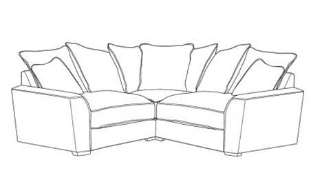 Fantasia 1 by 1 Seater Pillow Back Corner Group