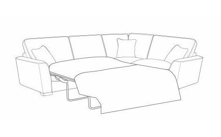 Wilmslow Right Hand Facing Standard Back Sofa Bed Corner Group