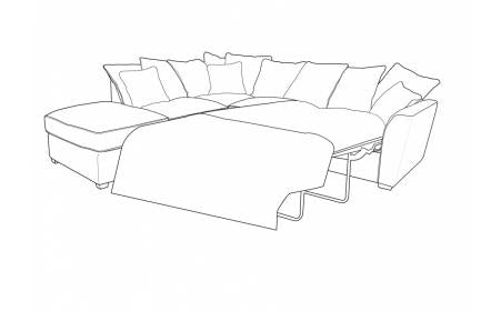 Wilmslow Right Hand Facing Pillow Back Sofa Bed Corner Group with Footstool