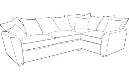Wilmslow Right Hand Facing Pillow Back Sofa Bed Corner Group