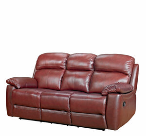 Alton Real Leather 3 Seater Sofa - FREE DELIVERY