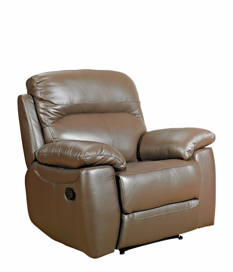Alton Real Leather Fixed Chair
