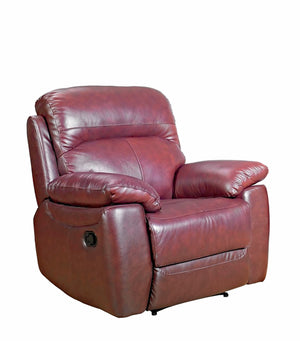 Alton Real Leather Fixed Chair - FREE DELIVERY