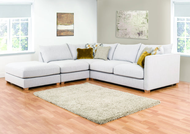 Carter 2 by 1 Seater and Footstool Left Hand Facing Corner Group