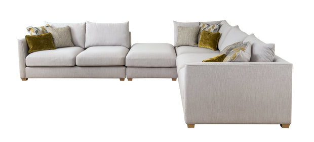 Carter 2 Seater Right Hand Facing Corner Group with Footstool