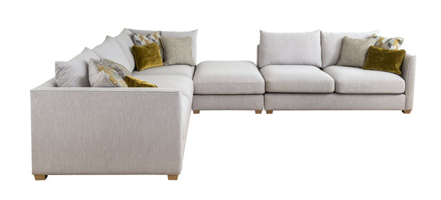 Carter 2 Seater Left Hand Facing Corner Group with Footstool