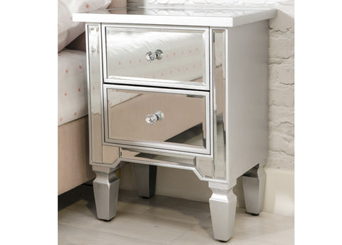 Delph 2 Drawer Bedside Chest  - FREE DELIVERY
