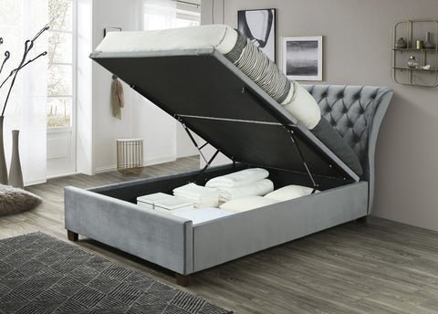 Jorge Ottoman Fabric Bed Frame - FREE DELIVERY