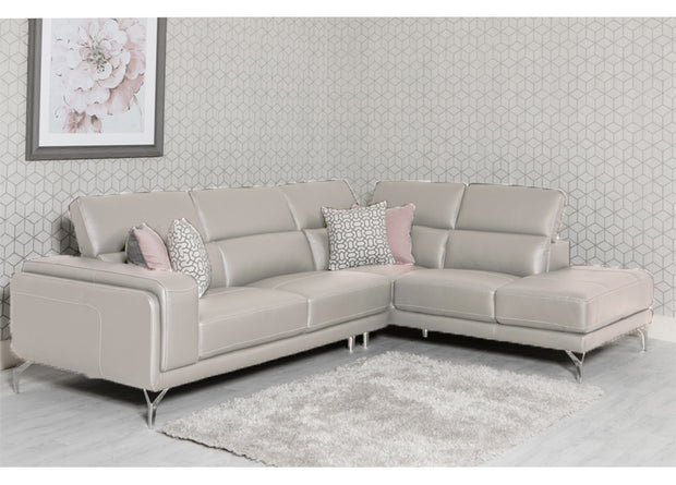 Linea Leather Corner Sofa - FREE DELIVERY