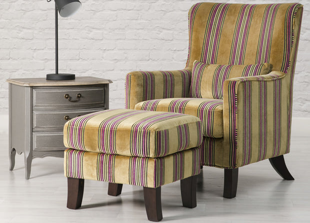 Monet Accent Footstool - Express Delivery