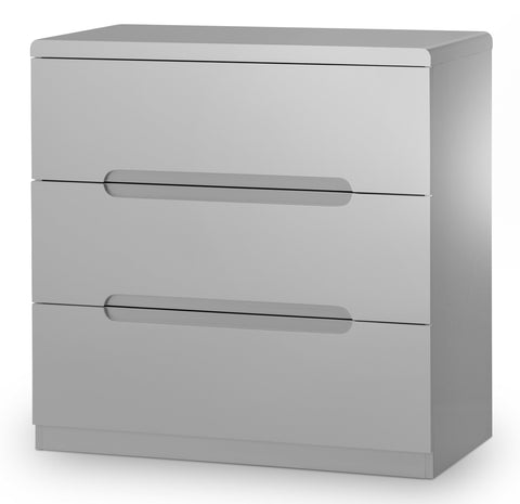 Manhattan 3 Drawer Chest - Grey