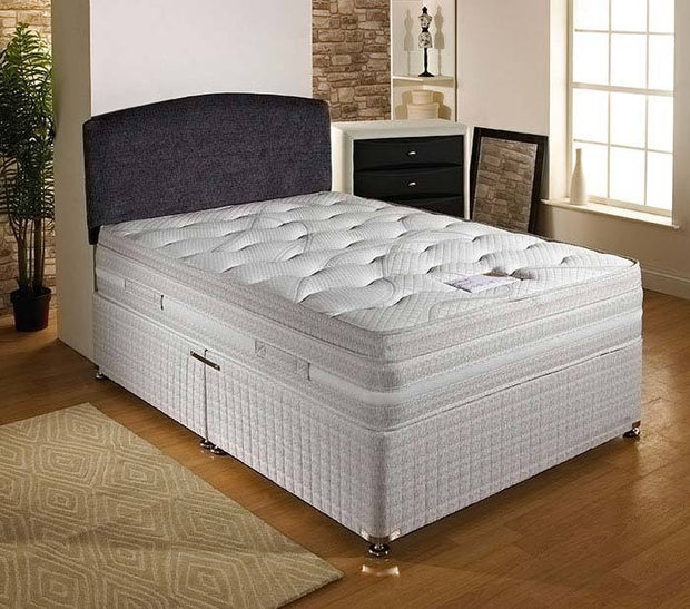 Panache End Drawer Divan Base & Cushion Top Mattress