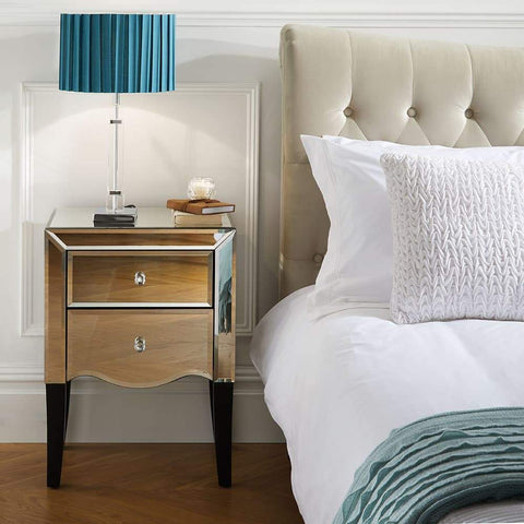 Palermo 2 Drawer Bedside Table